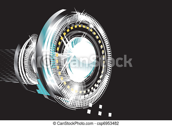 abstract background - bright flashes in the black  - csp6953482