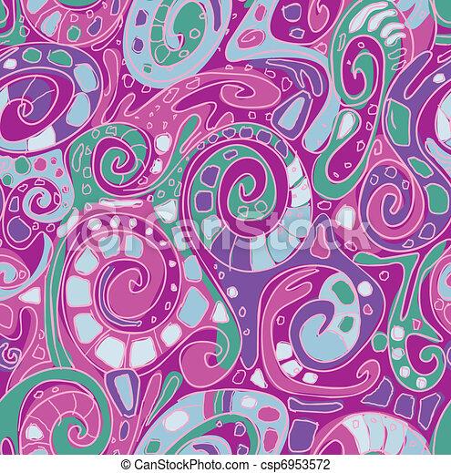 Seamless pattern with original spiral structure  - csp6953572