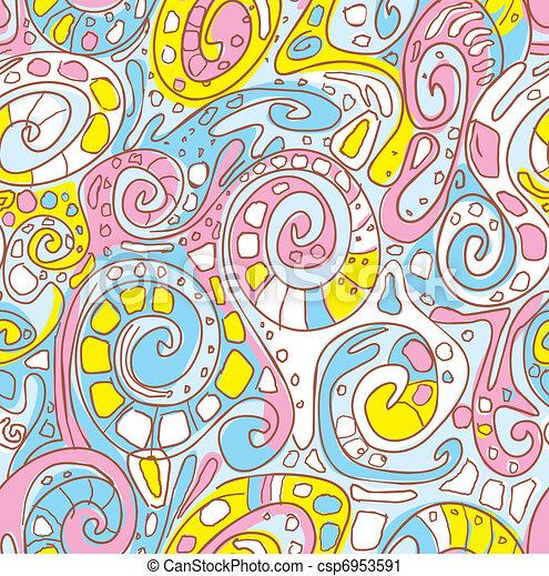 Seamless pattern with original spiral structure  - csp6953591