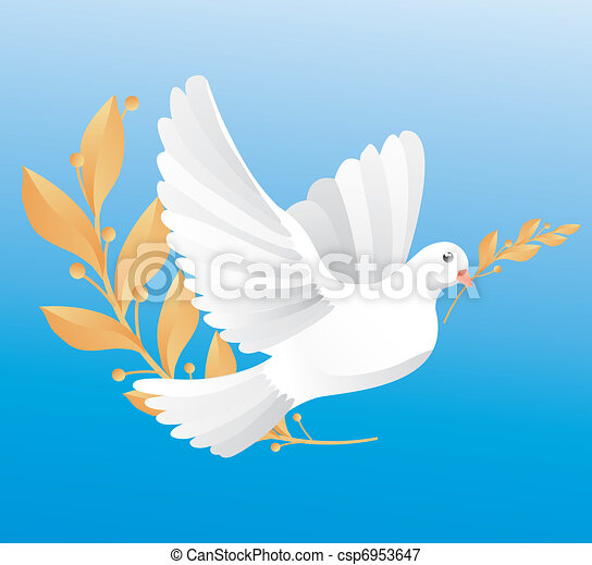 dove of peace  - csp6953647