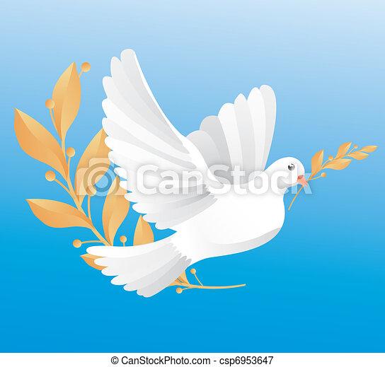 dove of peace  - csp6953647