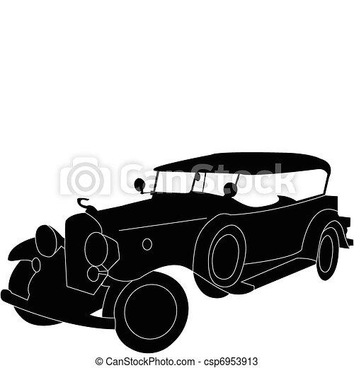 Altes auto silhouette vektor