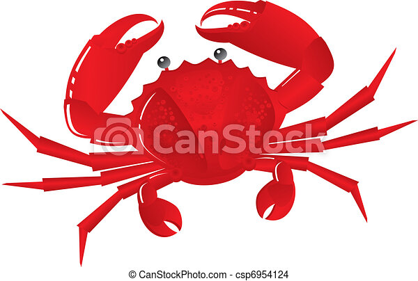 Boiled crab on snack to beer - csp6954124
