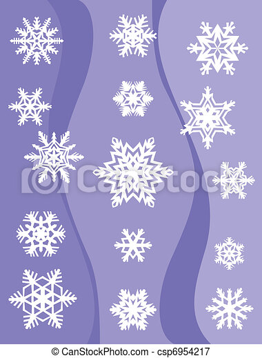 Set from original snowflakes  - csp6954217