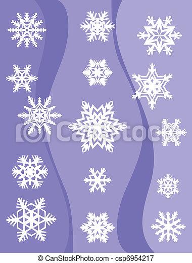 Set from original snowflakes  - csp6954217