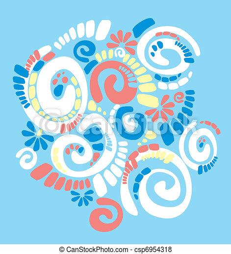 pattern with original spiral structure  - csp6954318