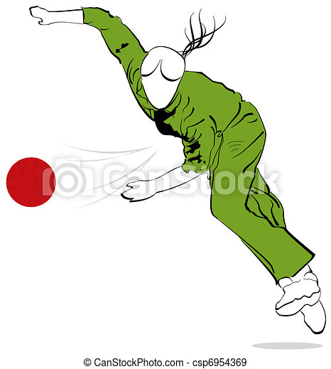 Bowling Cricket Drawing Cricketer Bowler Csp6954369