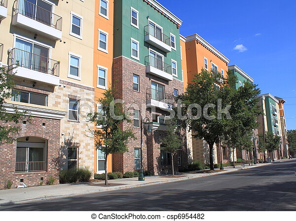 residential condominium buildings - csp6954482