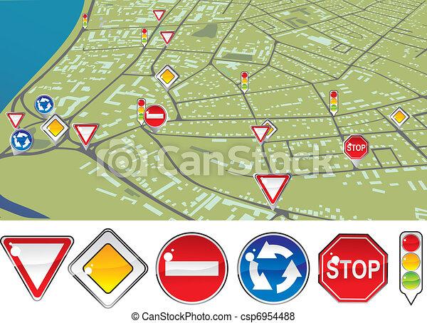 traffic regulations - csp6954488
