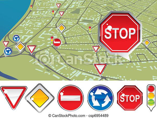 traffic regulations - csp6954489