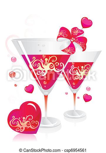 Celebratory still-life by Valentines day  - csp6954561