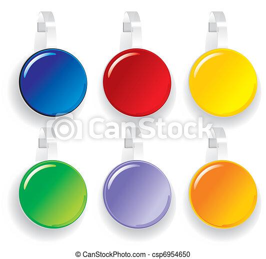 advertising color Paper wobbler  - csp6954650