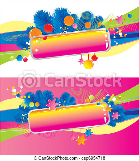 Celebratory colour decoration frame - csp6954718