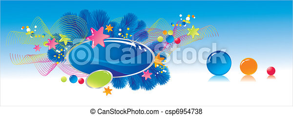 Celebratory colour decoration frame - csp6954738