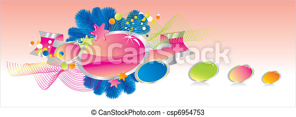 Celebratory colour decoration frame - csp6954753