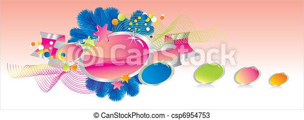 Celebratory colour decoration frame - csp6954753