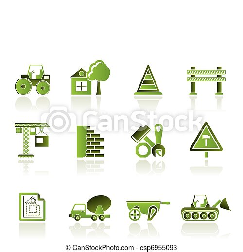 Construction and building  Icons  - csp6955093
