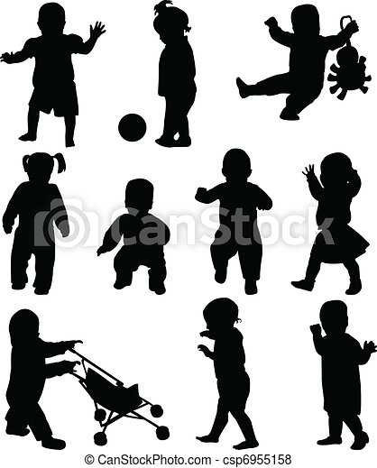 Babies silhouettes - csp6955158