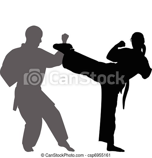 Karate match - vector - csp6955161