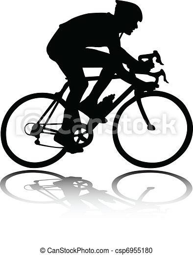 Bicyclist silhouette - csp6955180
