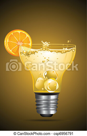 Cocktail in Bulb Glass - csp6956791
