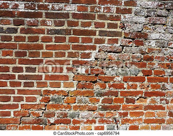 Banco de imagens de parede tijolo antigas um vista for Papel de pared rustico