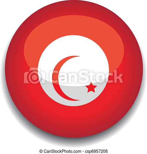 tunisia button flag - csp6957208