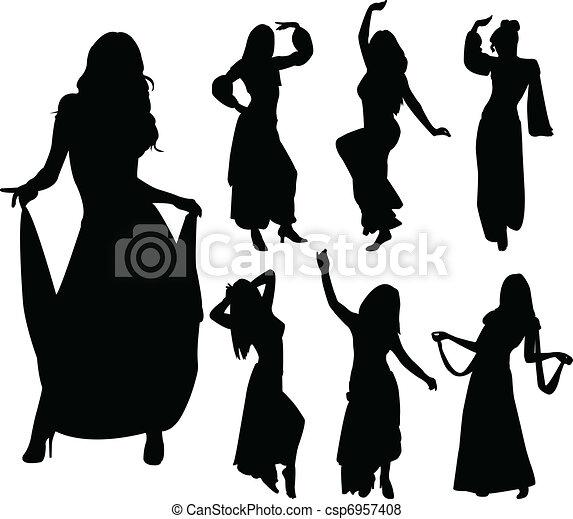 Belly dancers - csp6957408