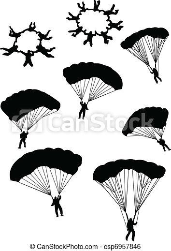 sky divers - csp6957846