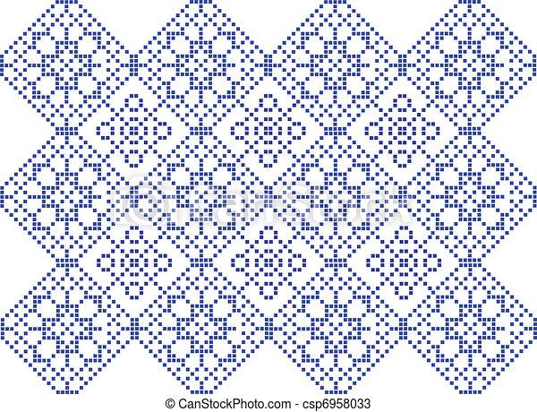 Crochet Stitches Vector : Vectors of Pattern to crochet - vector csp6958033 - Search Clip Art ...