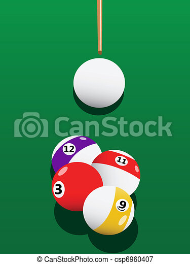 Billiards aiming - csp6960407