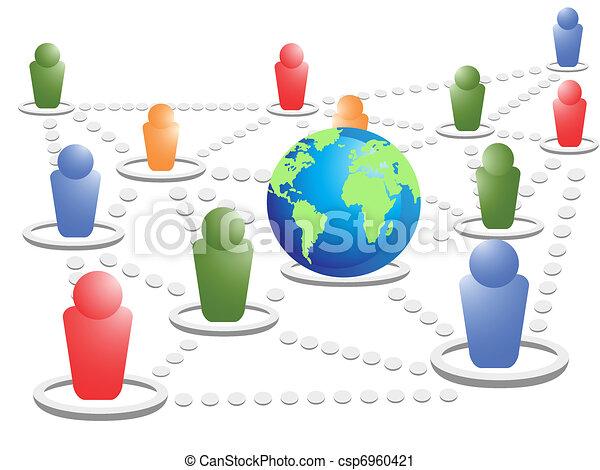 social net world - csp6960421