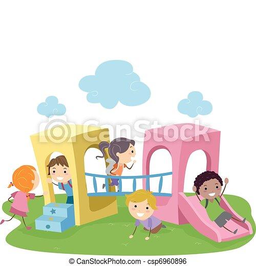 Play at Playground Clip Art