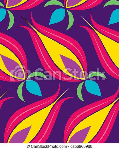 Ottoman Tulip Seamsless Pattern - csp6960988