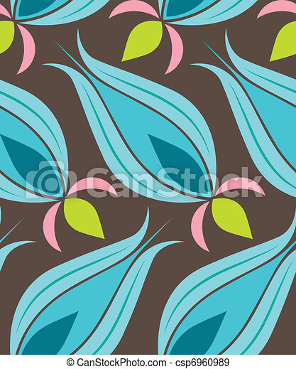 Ottoman Tulip Seamsless Pattern - csp6960989