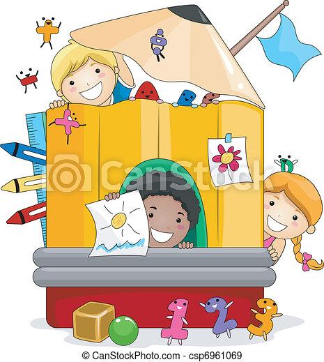 Preschool Kids Playing - csp6961069