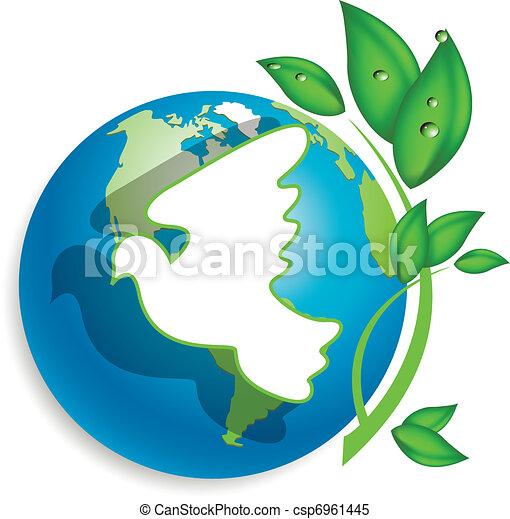 globe and dove - csp6961445