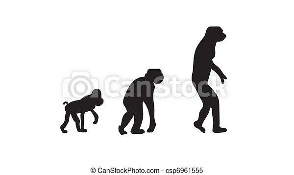 Stock Illustrations of evolution - silhouette evolution ...