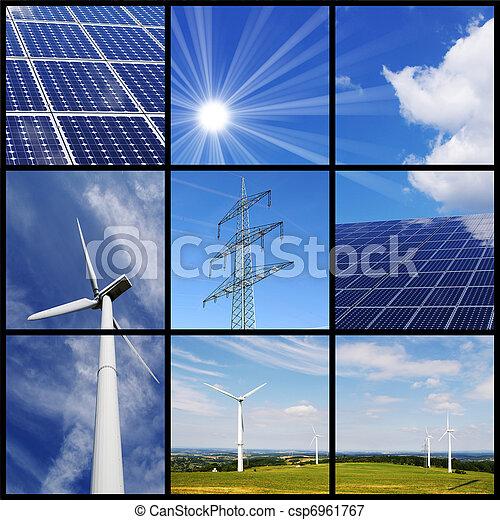 Green energy collage - csp6961767