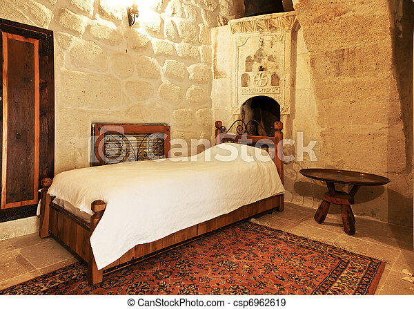 Photo lit chambre coucher disposition d tailler image images photo - Disposition de chambre ...