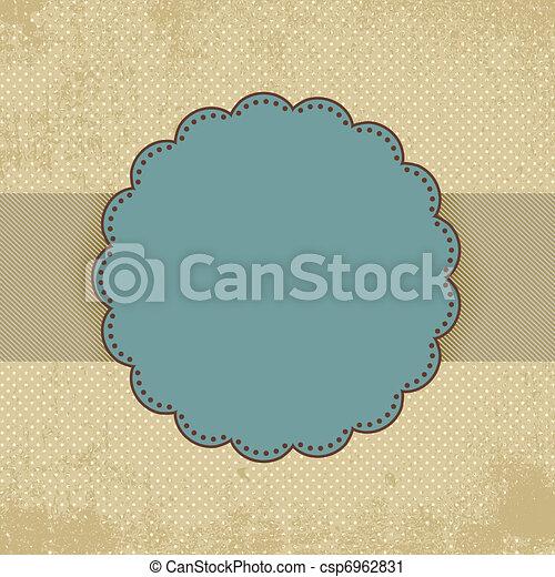 Vintage polka dot card template. EPS 8 - csp6962831