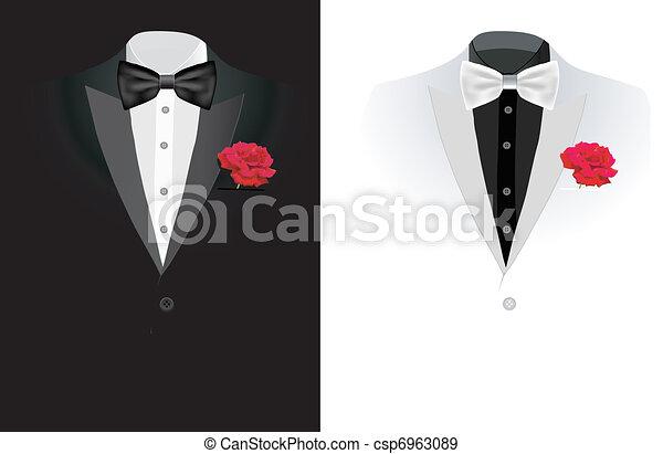 vector black business suit - csp6963089