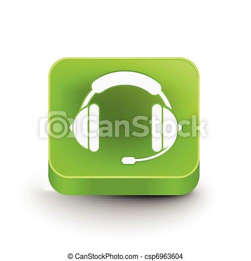 headset web icon design - csp6963604