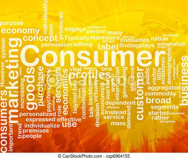 Consumer background concept - csp6964155