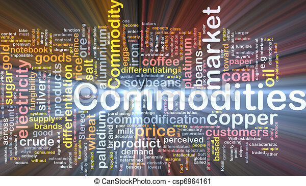 Commodities background concept glowing - csp6964161