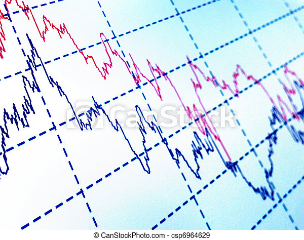 financial graph - csp6964629