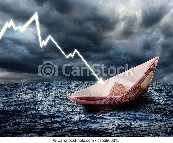 Sinking euro ship - csp6966815