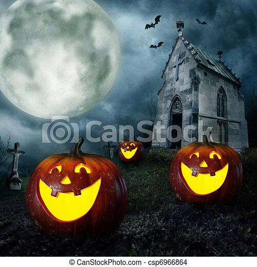 Halloween pumpkins - csp6966864