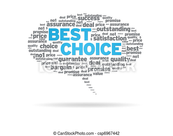 Speech Bubble - Best Choice - csp6967442