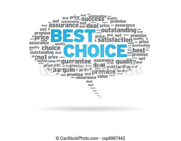 Speech Bubble - Best Choice - csp6967442